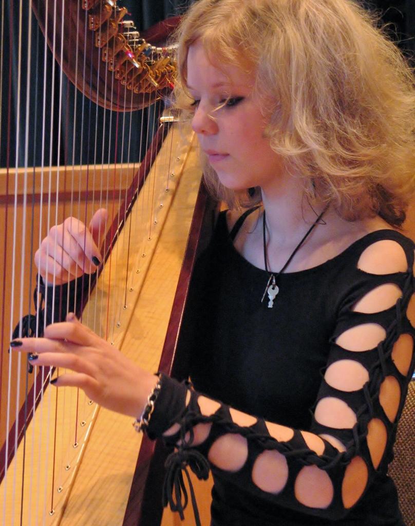Zupfinstrumente - Keltische Harfe